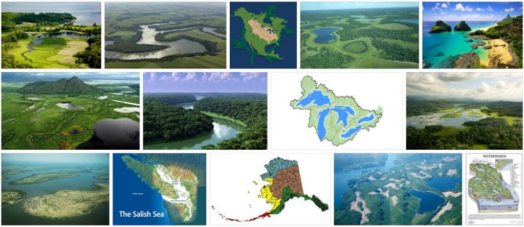 Brazil Watersheds and Islands
